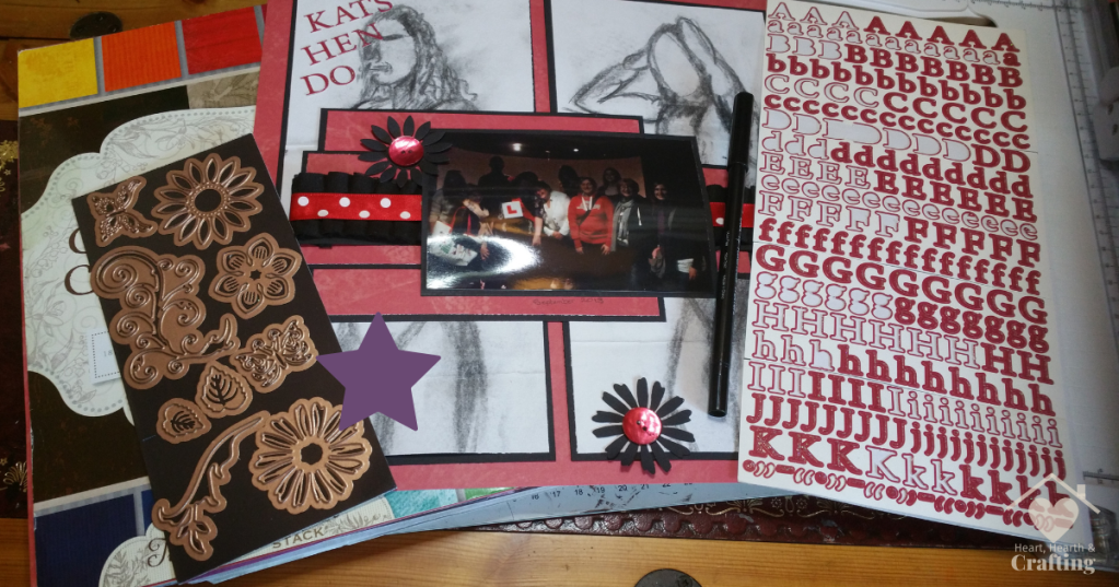Hen Do Scrapbook Layout with DCWV