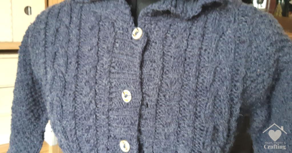 King Cole Little Teddy Coat Aran Knitting Project