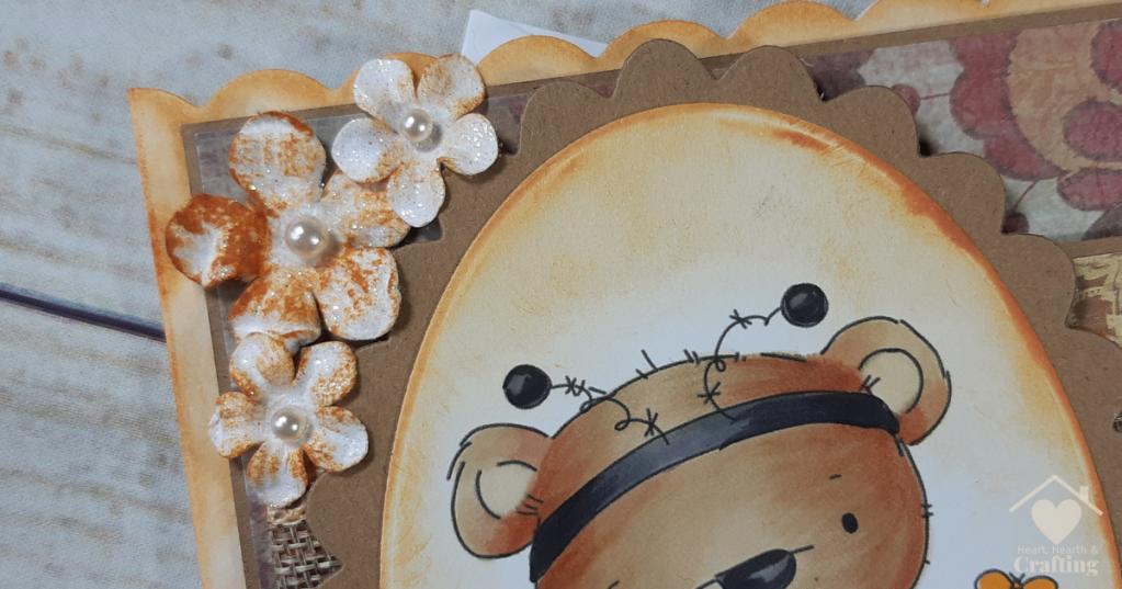 Polkadoodles Bella Bear Bee Costume Handmade Card [Step by Step Card Making Tutorial]
