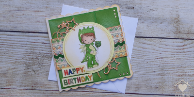 Polkadoodles Dragon Onesie Card Making Project