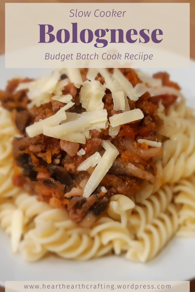 Slow Cooker Bolognese Recipe - Budget Batch Cook